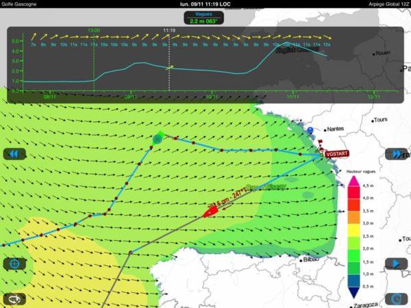 Etat de la mer prévu à J+24h